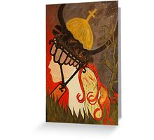the crusader Greeting Card