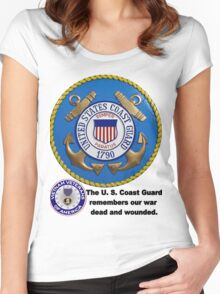 U. S. Coast Guard Remembers  Women's Fitted Scoop T-Shirt