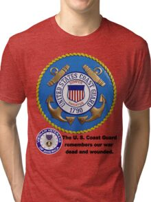 U. S. Coast Guard Remembers  Tri-blend T-Shirt