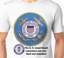 U. S. Coast Guard Remembers  Unisex T-Shirt