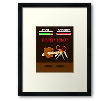 FINISH HIM!! Framed Print