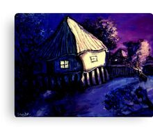 old brisbane house on dusk Canvas Print