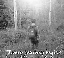 """Every journey begins by putting one foot in front of the other.""  by Carter L. Shepard by echoesofheaven"