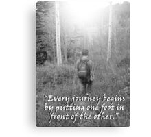 """""""Every journey begins by putting one foot in front of the other.""""  by Carter L. Shepard Canvas Print"""