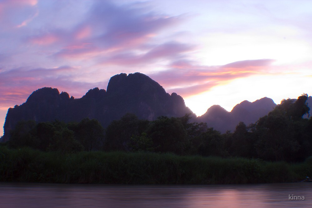 A Laotian Sunset by Kinna Abdulaziz
