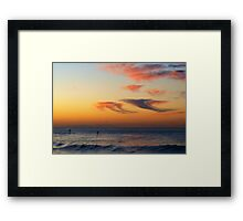 jellyfish clouds & paddleboarders Framed Print