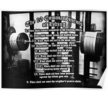 The 10 Commandments of Lifting Poster