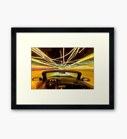 Mr. Jim's Wild Ride! Framed Print