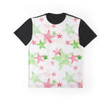 Air Brush Star Pattern Graphic T-Shirt
