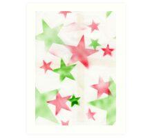 Air Brush Star Pattern Art Print