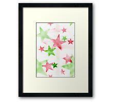 Air Brush Star Pattern Framed Print