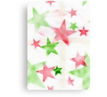 Air Brush Star Pattern Canvas Print