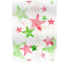 Air Brush Star Pattern Poster