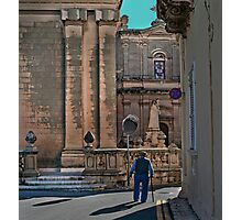 Way to Church (Zebbug Parish Malta) Photographic Print