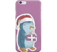 christmas penguin! iPhone Case/Skin