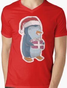 christmas penguin! Mens V-Neck T-Shirt