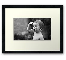 Mud treatment for kids Framed Print