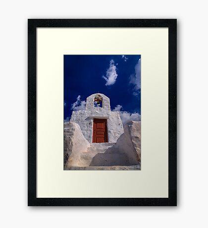 Small traditional Greek chapel Framed Print