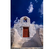 Small traditional Greek chapel Photographic Print