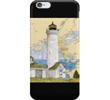 Tibbetts Pt Lighthouse NY Nautical Chart Peek iPhone Case/Skin