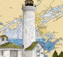 Tibbetts Pt Lighthouse NY Nautical Chart Peek by Cathy Peek