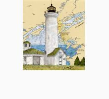Tibbetts Pt Lighthouse NY Nautical Chart Peek Unisex T-Shirt