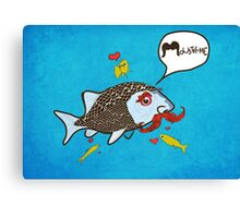 Fishy Moustache Canvas Print
