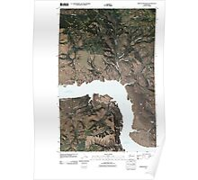 USGS Topo Map Washington State WA Whitestone Rock 20110401 TM Poster