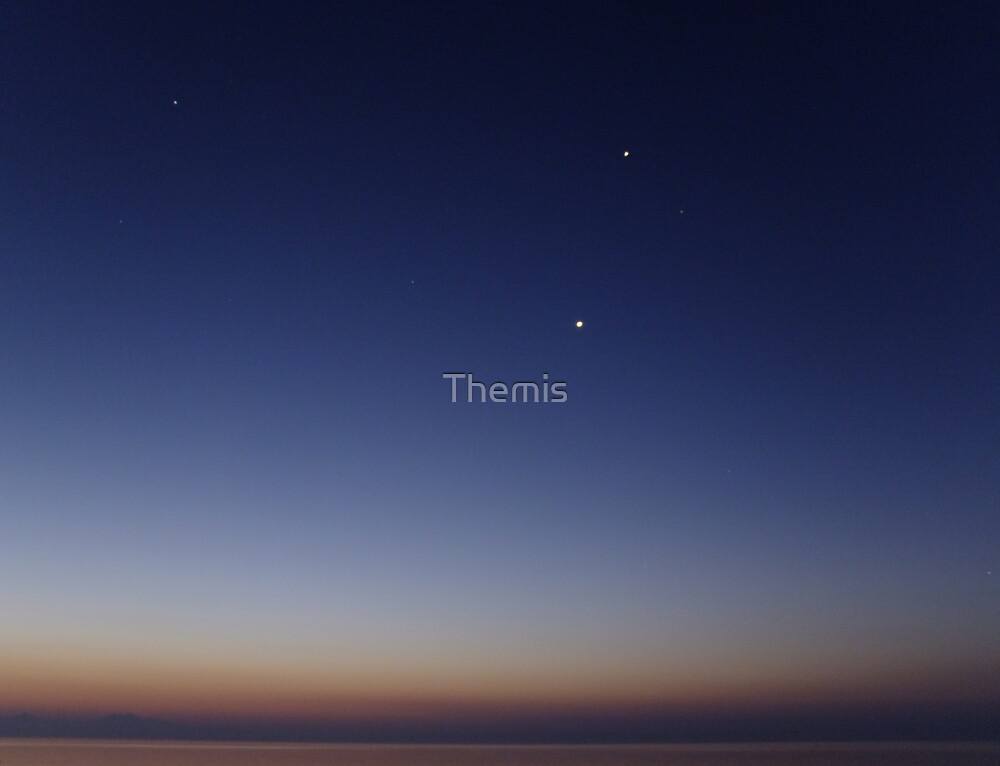 Morning view with stars by Themis
