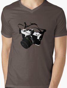 Digital camera isolated on white background DSLR on T-Shirt Mens V-Neck T-Shirt