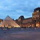 Louvre at dusk by Elena Skvortsova