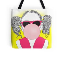 young girl with a bubble Tote Bag