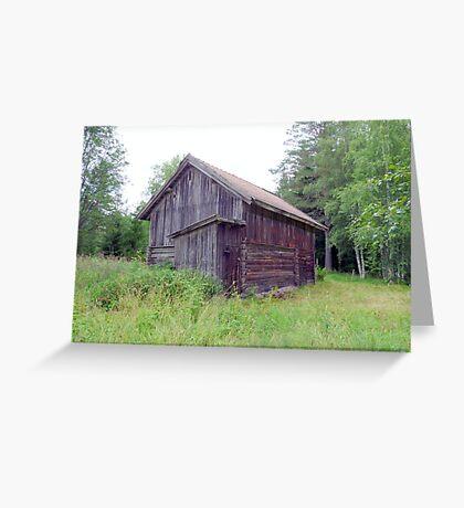 Old Mountain Pasture Barn  Greeting Card