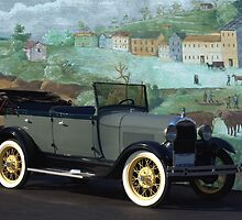 1929 Ford Model A Touring Car by TeeMack