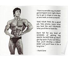 Frank Zane - Training Advice Poster