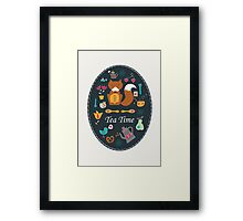 Tea Time With Mr Fox Framed Print