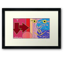 welcome, we've been expecting you. 5 (raw) Framed Print