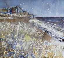 Looking Towards Boulmer Cottages by Sue Nichol