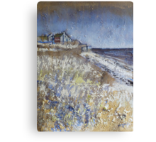 Looking Towards Boulmer Cottages Canvas Print