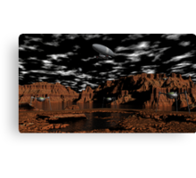 Once Upon A Time on Mars Canvas Print