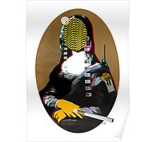 Mona Lisa StreetPopArt - Gold Version Poster
