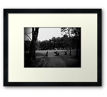 Golfers & Golf Carts Framed Print