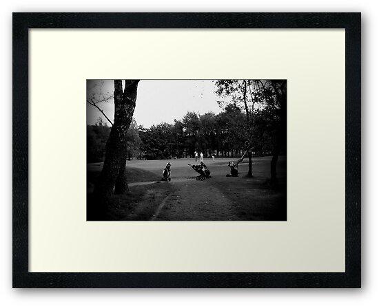 Golfers & Golf Carts by Chris Goodwin