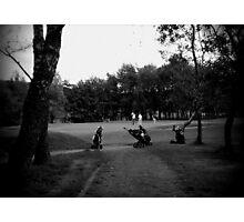 Golfers & Golf Carts Photographic Print
