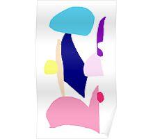 Umbrella Purple Sword Pink Warrior Rain Sky Poster