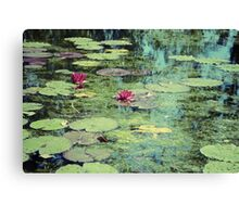 Water Lilies Pond Canvas Print