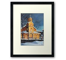 Christmas Magic in the Mountain Framed Print
