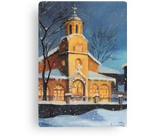 Christmas Magic in the Mountain Canvas Print