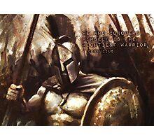 Spartan Motivation - CONQUER Photographic Print