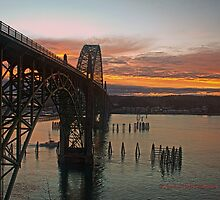 Yaquina Bay Bridge at Sunrise by cjfehr